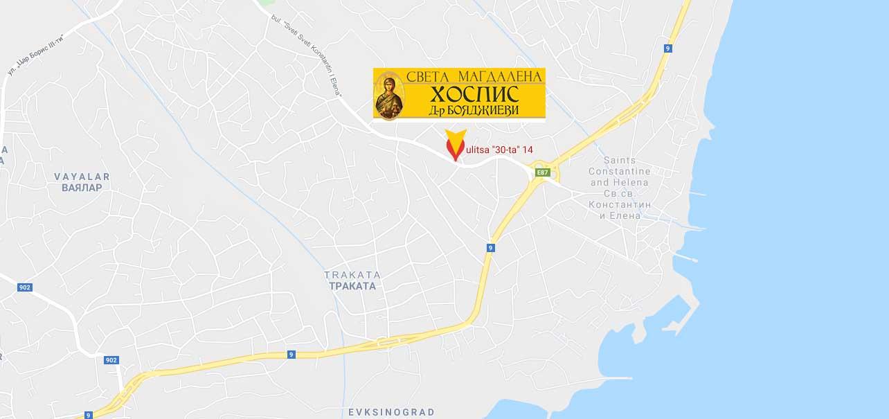 Карта до Хоспис Варна